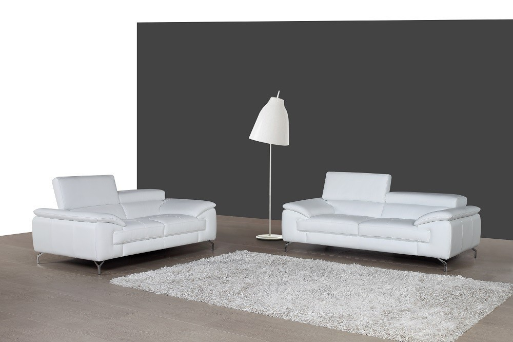 Fine A973 Premium Leather Sofa Set In White Ocoug Best Dining Table And Chair Ideas Images Ocougorg