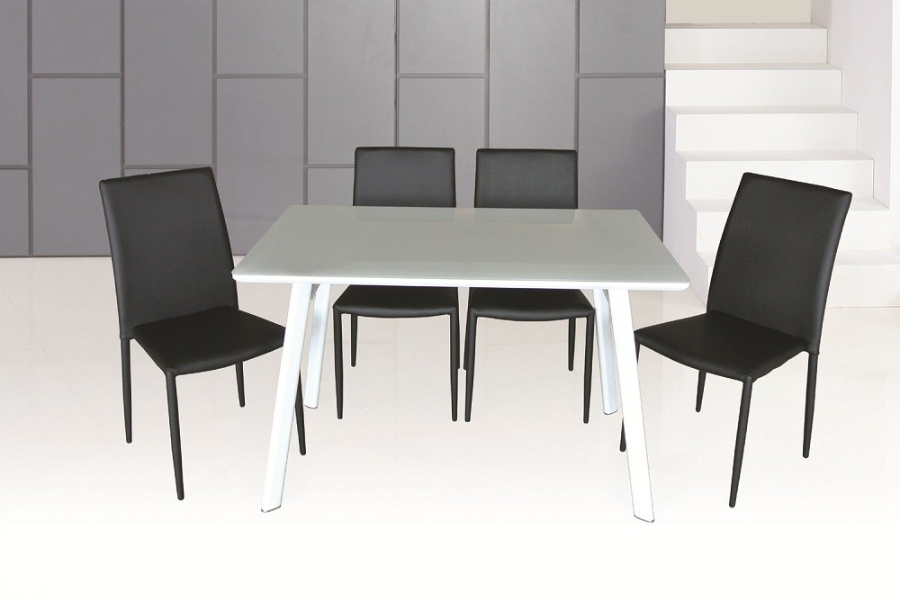 Black And Chrome Dining Room Chairs
