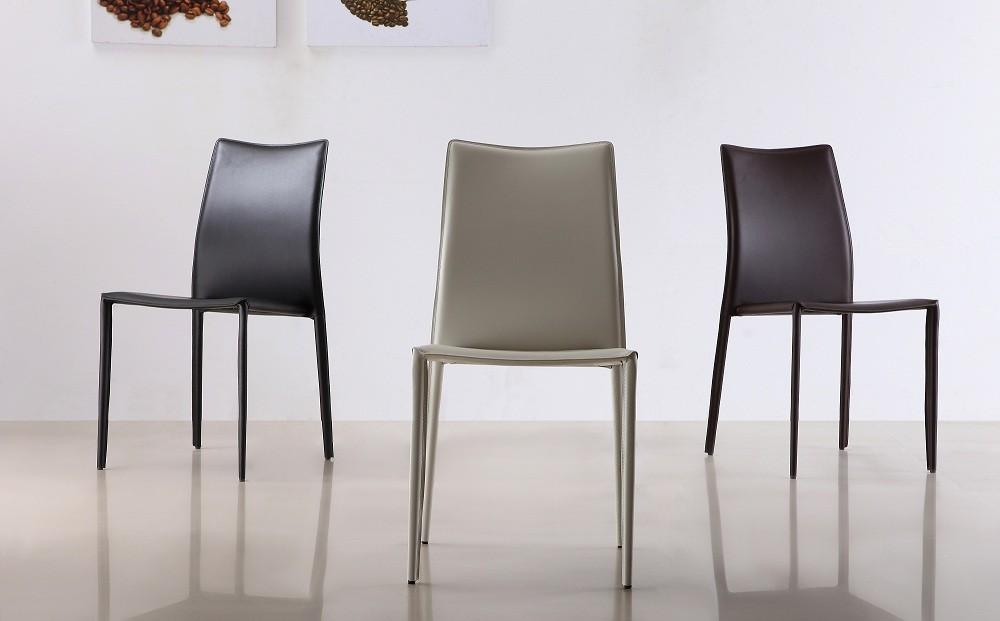 ... C031B Ju0026M White Dining Chairs ...