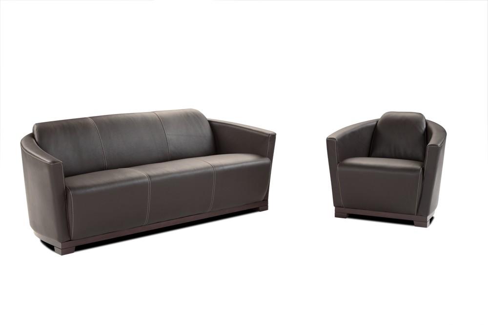 ... Hotel Italian Leather Sofa U0026 Chair ...