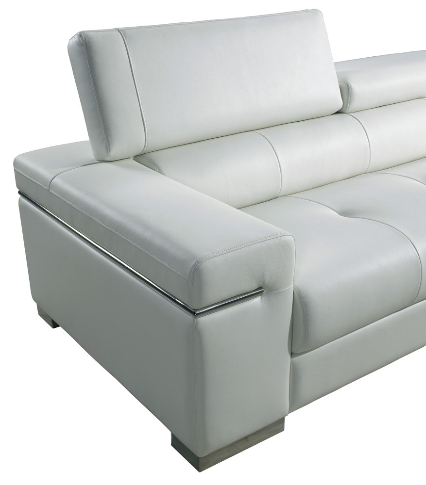 Soho Leather Sofa In White