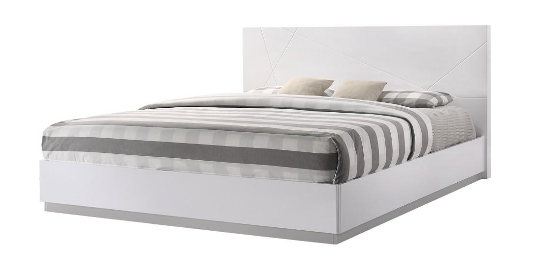 JampM Furniture Naples Modern White Lacquered Bedroom set