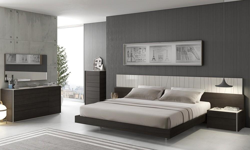 Porto Premium Bedroom Set in Wenge with Light Grey