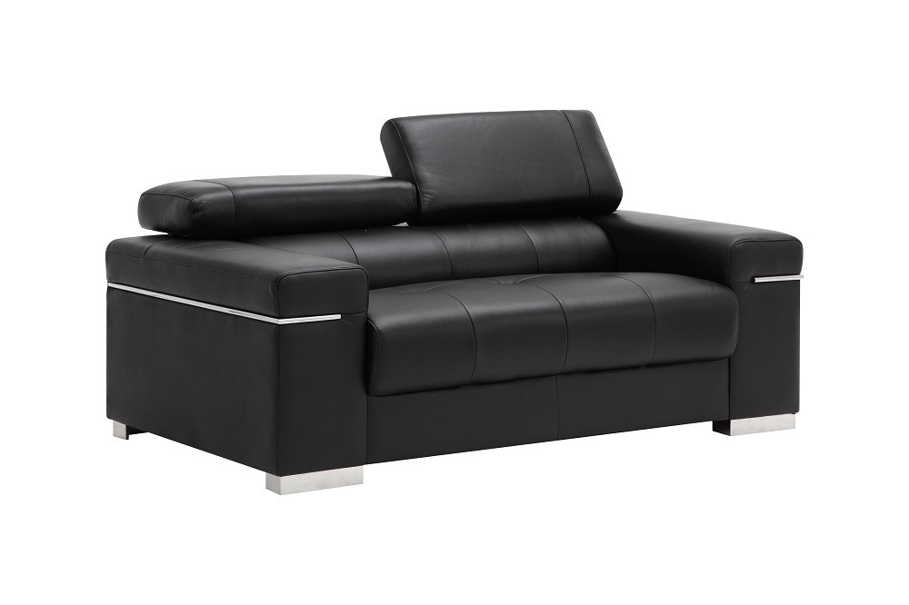 Soho Leather Sofa In Black