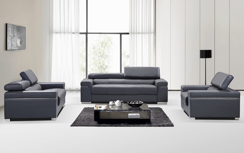 Exceptionnel ... Soho Leather Sofa In Grey ...
