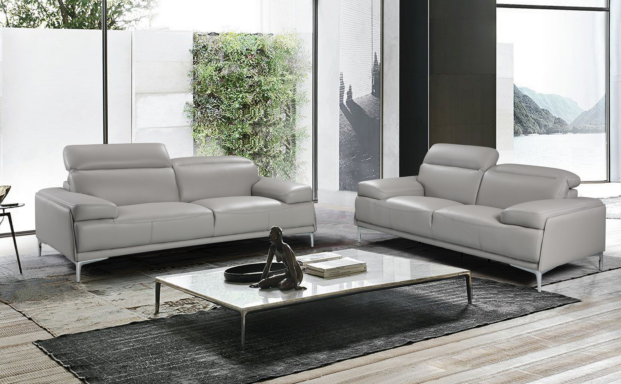 Nicolo Light Grey Sofa Set