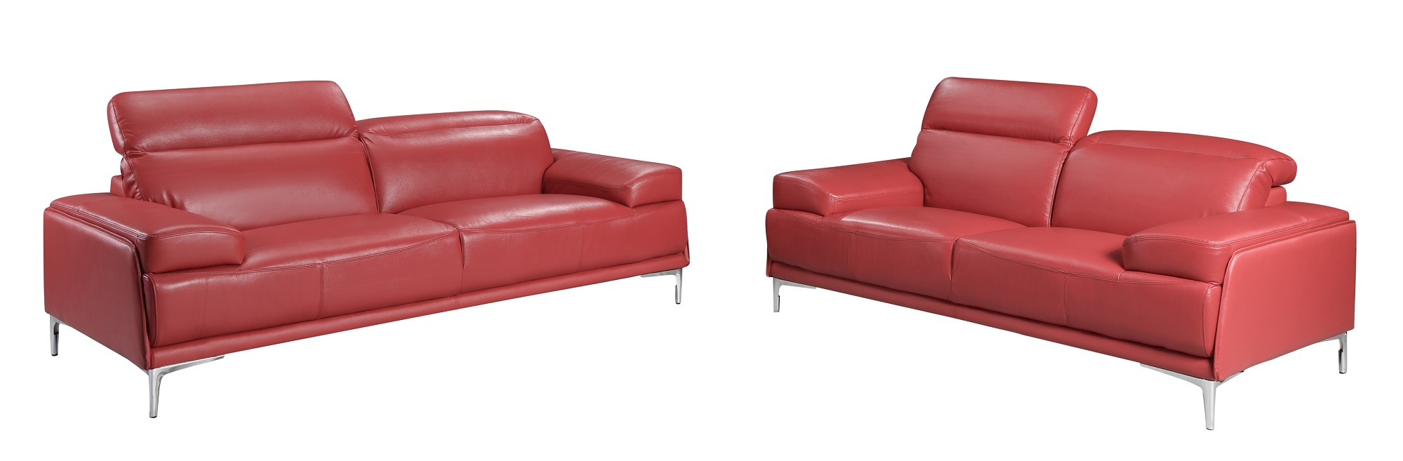 Nicolo Red Sofa Set