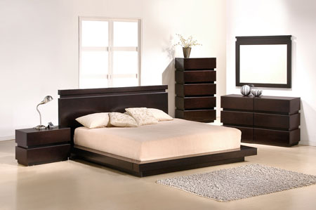 bedroom cappuccino platform dp amazon king set finish in com size
