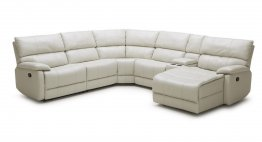 002 Motion Leather Sectional