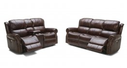 057 Motion Leather Sofa, Love, and Chair
