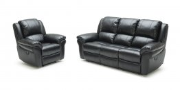 1999 Motion Leather Sofa, Love, and Chair