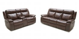 5016 Motion Leather Sofa, Love, and Chair