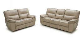 5067 Motion Leather Sofa, Love, and Chair