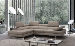 A761 Italian Leather Sectional in Peanut