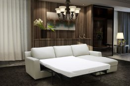 Lauren Premium Sectional Sleeper in Light Grey