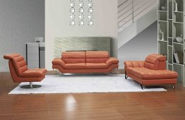Astro Sofa Set in Pumpkin