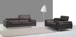 A973 Premium Leather Sofa Set in Slate Grey