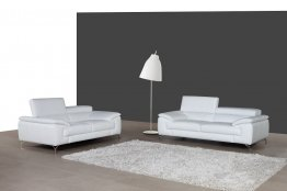 A973 Premium Leather Sofa Set in White