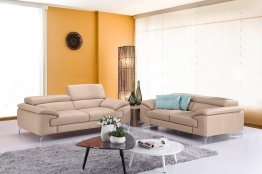 A973 Premium Leather Sofa Set in Peanut
