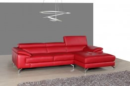 A973b Premium Leather Sectional in Red