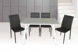 B24 Dining Table & DC 13 Chairs (Black)