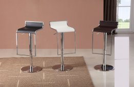 C 027B-3 Leather Barstool