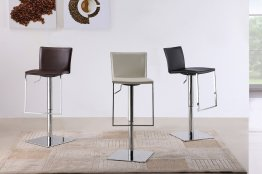 C-183B-3 Leather Barstool