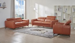 Cooper Sofa Set In Pumpkin
