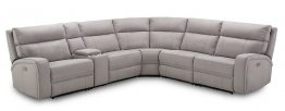 Cozy 6Pc Motion Sectional In Moonshine Microfiber
