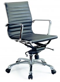 Comfy Low Back Office Chair In Black