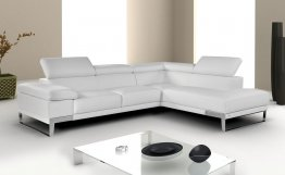 """Nicoletti"" Premium Leather Sectional"
