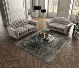The Divina Fabric Sofa Set