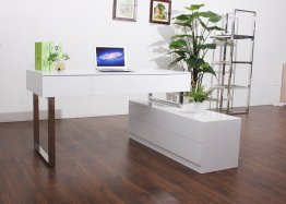 KD12 Modern Office Desk in Matte White