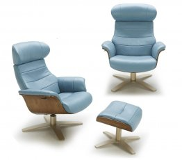 The Karma Lounge Chair in Blue
