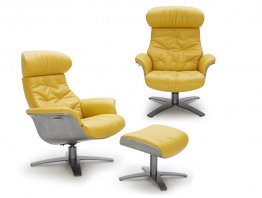 The Karma Lounge Chair in Mustard