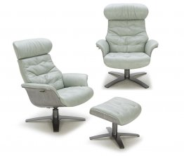 The Karma Lounge Chair in Mint Green