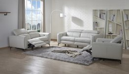 Lorenzo Motion Sofa Set in Light Grey