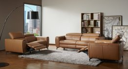 Lorenzo Motion Sofa Set in Caramel