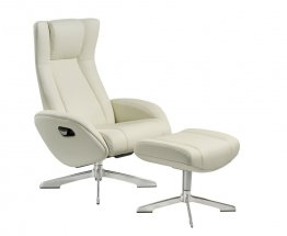 Maya Chair and Ottoman in White