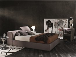Tower Storage Bed in Taupe