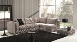 The Vanity Fabric Sectional & Coffee Table