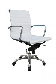 Comfy Low Back Office Chair In White