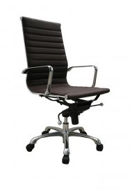 Comfy High Back Office Chair In Brown