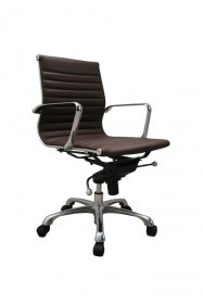 Comfy Low Back Office Chair In Brown