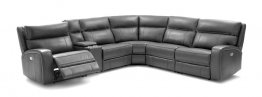 Cozy 6Pc Motion Sectional In Grey