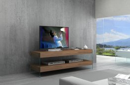 Elm Mini TV Base in Walnut