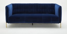 Deco Blue Fabric Sofa Set