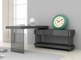Grey Cloud Modern Desk in High Gloss