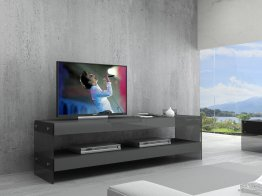 Grey Cloud TV Base in High Gloss