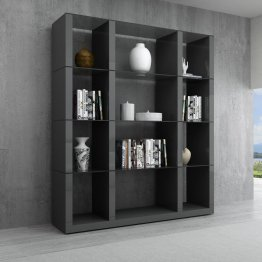 Grey Cloud Wall Unit in High Gloss